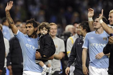 Los jugadores del City se despiden de su afición en el último partido de Liga, | Reuters