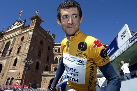 Roberto Heras, en la última etapa de la Vuelta de 2005. | AFP