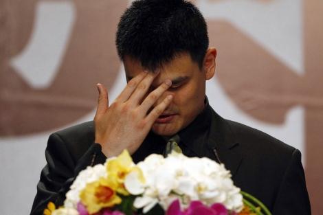 Yao Ming, durante la rueda de prensa. | Reuters