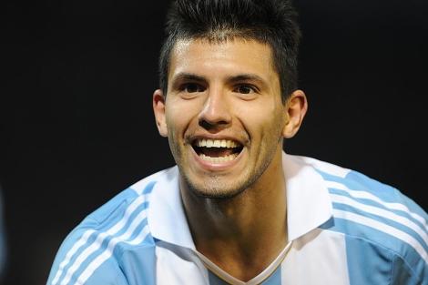 Agüero, en un partido con Argentina. | AP