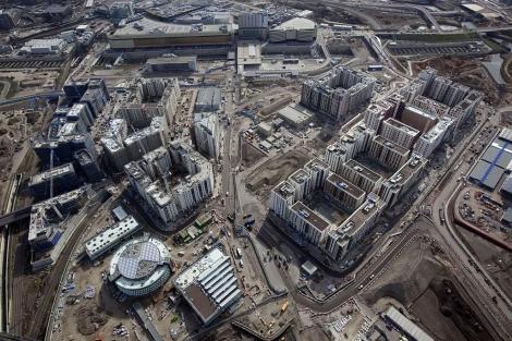 Imagen aérea de la Villa Olímpica en construcción. |AFP