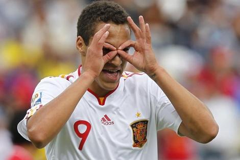 Rodri celebra el primer gol español. | AP