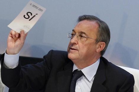 Florentino Pérez, durante la asamblea. | Efe