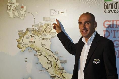 Juanjo Cobo, el domingo pasado en la presentación del Giro. | Ap