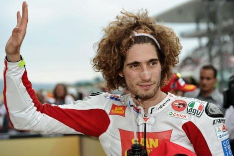 Marco Simoncelli, en la previa del Gran Premio de Italia. | Afp