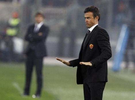 Luis Enrique durante el partido contra la Juventus. |Reuters