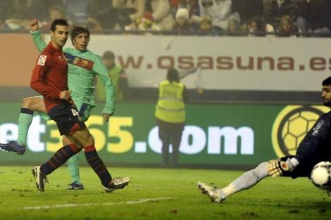 Sergi Roberto anota el segundo gol azulgrana. (AFP)