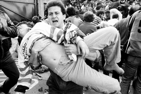 La tragedia de Heysel (39 muertos) es una de las más tristemente célebres en Europa junto a la de Hillsborough (Sheffield, 95 muertos). /NICK DIDLICK