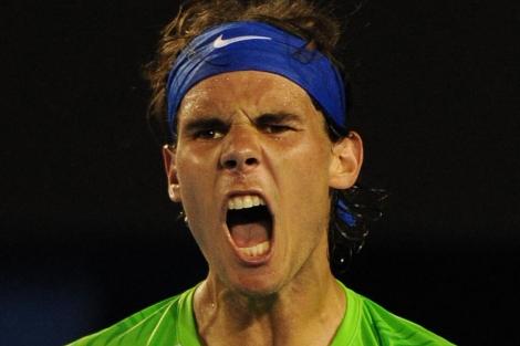 Rafael Nadal, en el pasado Abierto de Australia. | AFP