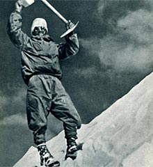 Herzog, en el Annapurna en 1950.