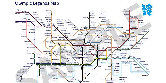 Vea el plano ampliado: leyendas del deporte | Metro de Londres