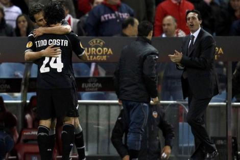 Emery, durante el encuentro del Calderón. | Reuters