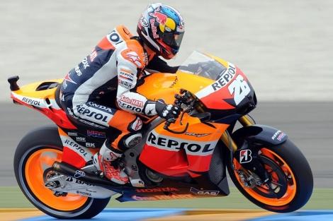 Dani Pedrosa, durante la clasificación.   AFP