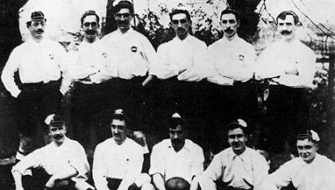 Alineación que consiguió la Copa Coronación en 1902 | Miathletic.com