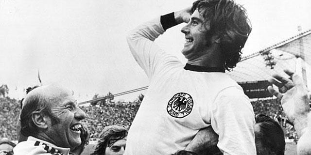 Gerard Müller, tras ganar el título de 1972.