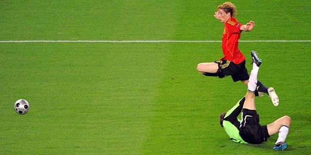 Fernando Torres marcó el gol de la final. | AFP