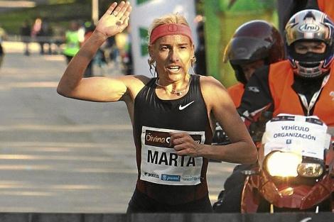 Marta Domínguez, en la carrera Divina Pastora de madrid, en 2011.   Efe