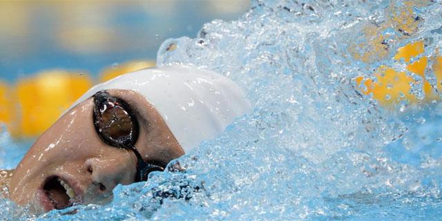 Ye Shiwen, en los 400 estilos en los que conquistó el oro. (AFP)