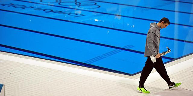 Michael Phelps, después de su última carrera en unos Juegos Olímpicos. | Efe