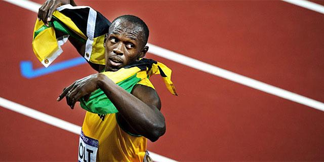 Usain Bolt, tras conquistar su título olímpico en 200. (Foto: Efe)