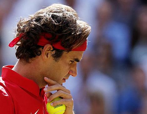 El suizo Roger Federer durante la final de tenis de los Juegos Olímpicos.   EFE