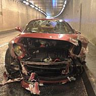 Accidente de Cristiano en 2009