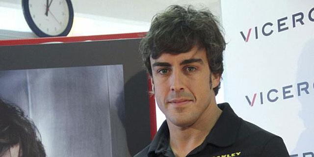 El piloto de Fórmula 1, Fernando Alonso durante un acto promocional.I Efe