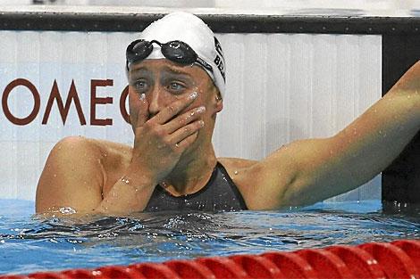 Mireia Belmonte, en los Juegos de Londres. (EFE)