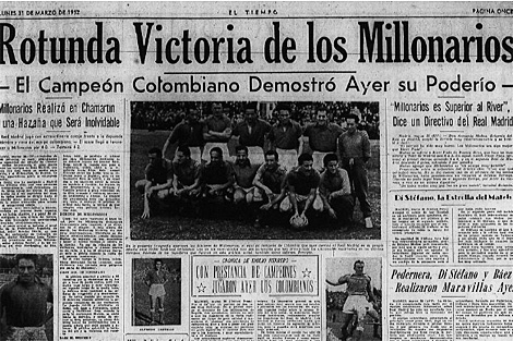 Crónica del lunes 31 de marzo de 1952 en el diario 'El Tiempo'.