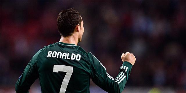 Cristiano Ronaldo en el partido contra el Ajax   AFP