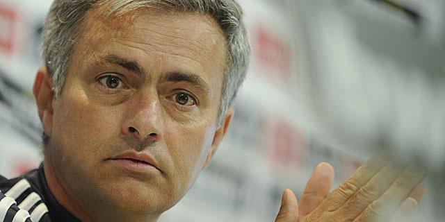 Mourinho compareciendo ante los medios en rueda de prensa | JUAN AGUADO