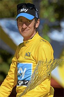 Wiggins, en el Tour.   Efe