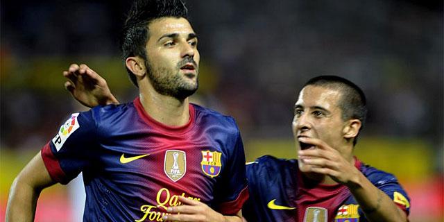David Villa, en un partido de la presente temporada. (EFE)