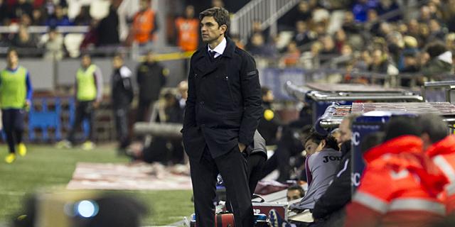 Mauricio Pellegrino, durante el partido ante la Real Sociedad. | EFE