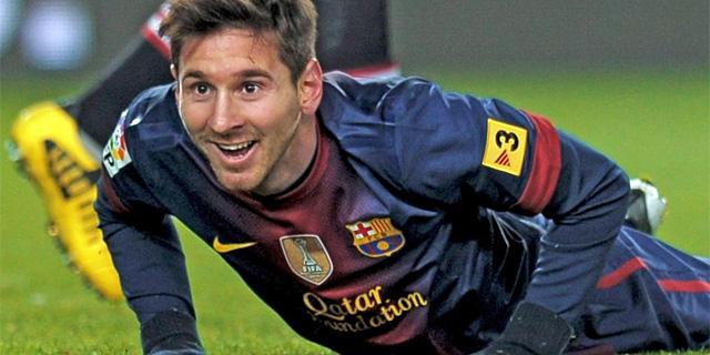 Messi, en un encuentro de Liga.   Afp