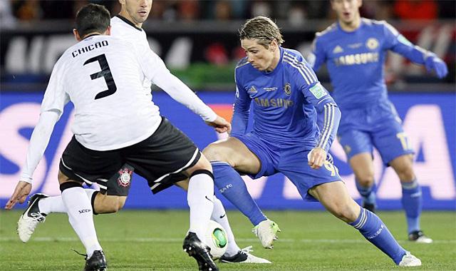Fernando Torres, en un lance del partido contra el Corinthians | EFE