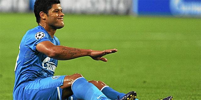 Hulk, delantero brasileño del Zenit de San Petersburgo. (AFP)