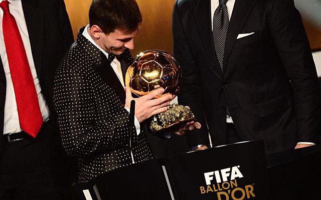 Messi mira su cuarto Balón de Oro. (AFP)