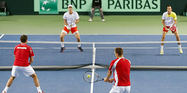 Suizos y checos han firmado el partido más largo de la historia de la Copa Davis. (REUTERS)