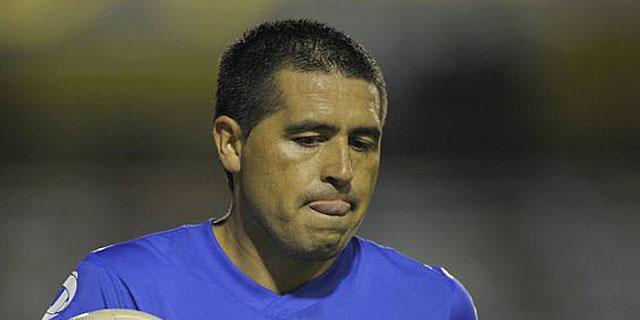 Riquelme, en su última etapa como jugador de Boca Juniors.