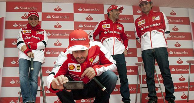 De izda a dcha: Massa, Alonso, Gené y De la Rosa. | EFE