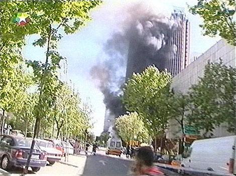 Imagen del atentado de ETA en Torre Europa en 2002. | Fuente: TV