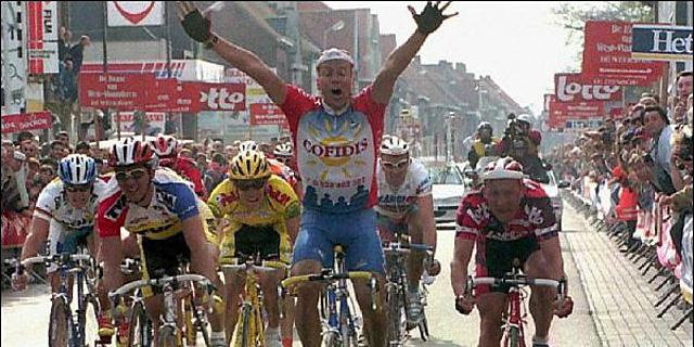 Gaumont, ganador de la Gante-Wevelgem en 1997.