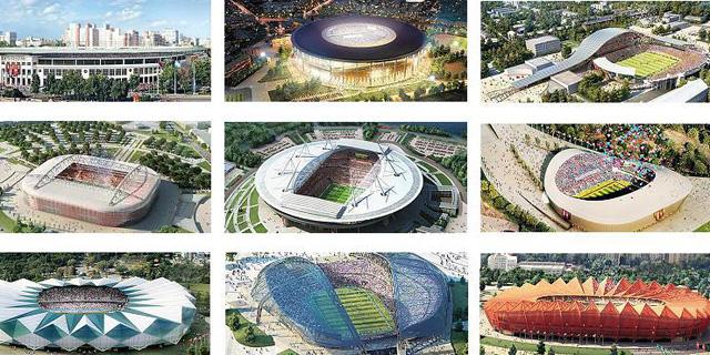 Proyeccción de los estadios del Mundial de Rusia. | Reuters