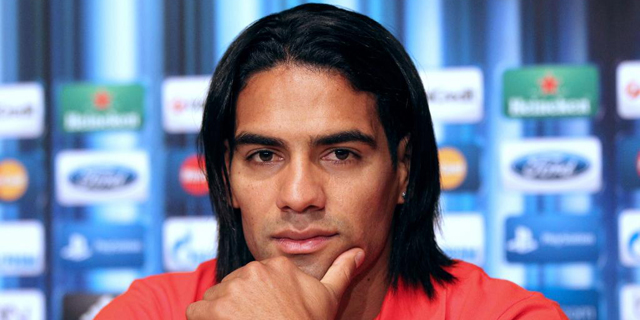 El colombiano durante una de sus últimas ruedas de prensa como jugador del Atlético de Madrid.   Efe