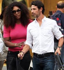 Serena y su novio.