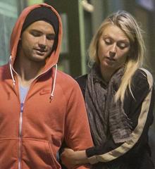Sharapova y su novio.