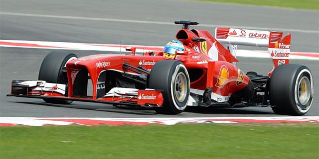 Fernando Alonso, durante el Gran Premio de Gran Bretaña. | AFP