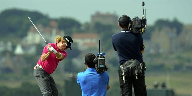 Miguel Ángel Jiménez, durante la primera jornada del British Open.   Reuters