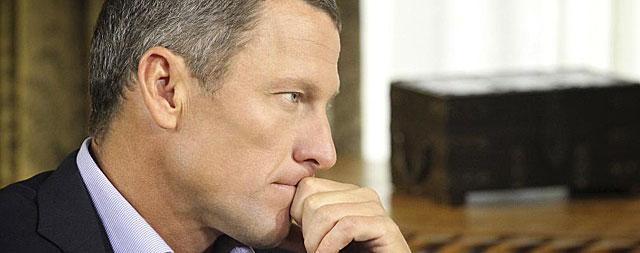 Lance Armstrong, durante su ya famosa entrevista con Oprah Winfrey.   Reuters